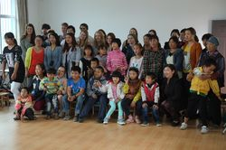 Gjensidige inntrykk med Karmøy Folkehøyskole på besøk